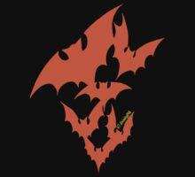 Going Batty (orange) by divinityINK