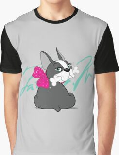 "French Bulldog ""Cherry"" with a signature   Graphic T-Shirt"