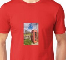 Red Telephone Box and Slate Mill Ruins Unisex T-Shirt