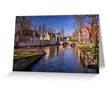 Blue Bruges  Greeting Card