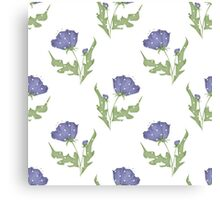 Seamless floral pattern print background Canvas Print