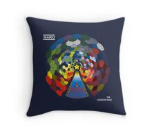 The Rainbow Road Throw Pillow