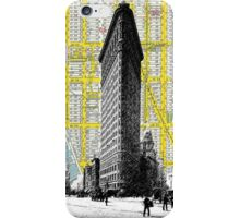 1905 Flatiron Building with Map Behind New York City iPhone Case/Skin