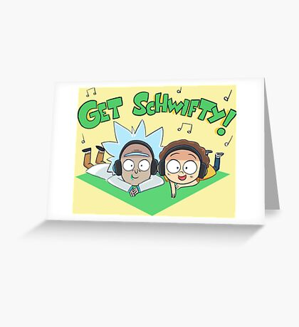 rick and morthy Greeting Card