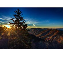 Sunrise at Newfound Gap Photographic Print