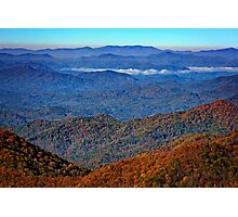 Plott Balsam Overlook in Autumn Photographic Print