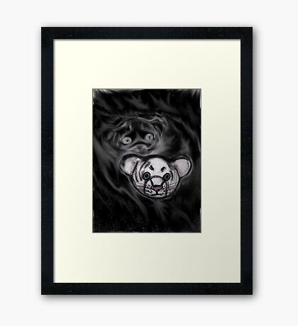 Cute Tiger Sketch Framed Print