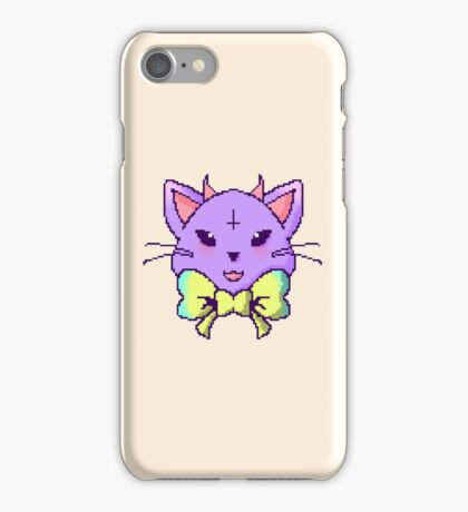 Pixel Pastel Goth Kitty  iPhone Case/Skin