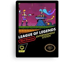 League of Legends Retro Nintendo Canvas Print