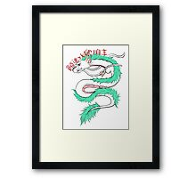 River spirit Haku Framed Print