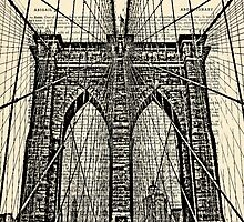 Brooklyn Bridge with Dictionary Page Background by darkislandcity
