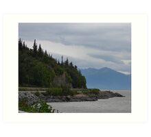 Road to Portage, Alaska Art Print