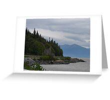 Road to Portage, Alaska Greeting Card