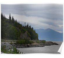Road to Portage, Alaska Poster