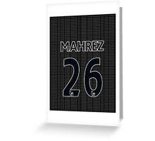 Riyad Mahrez Typography Greeting Card