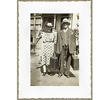 """My Great Grandparents, The Halls""... prints and products Photographic Print"