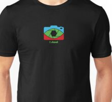 I shoot - pop art colors Unisex T-Shirt