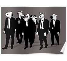 RESERVOIR HOUNDS (b&w) Poster