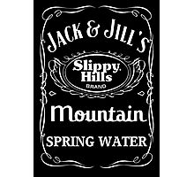 Jack & Jill's Slippy Hills Mountain Spring Water Photographic Print