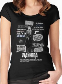 Wanheda - Clarke Griffin - Clexa - The 100 Women's Fitted Scoop T-Shirt
