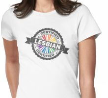 Certified Lesbian Stamp Womens Fitted T-Shirt