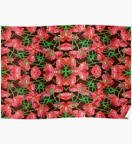 Floral Collage Pattern Poster