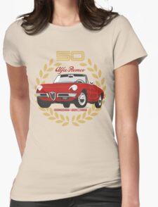 Alfa Romeo Spider 50 years Womens Fitted T-Shirt