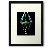 Skyrim Logo - Scenery Framed Print