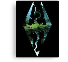 Skyrim Logo - Scenery Canvas Print