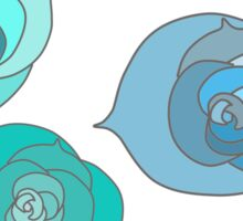 Blue Winter Roses Sticker