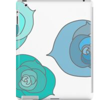 Blue Winter Roses iPad Case/Skin
