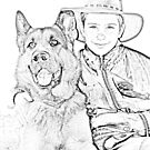 Boy and man's Best Friend...  by Qnita