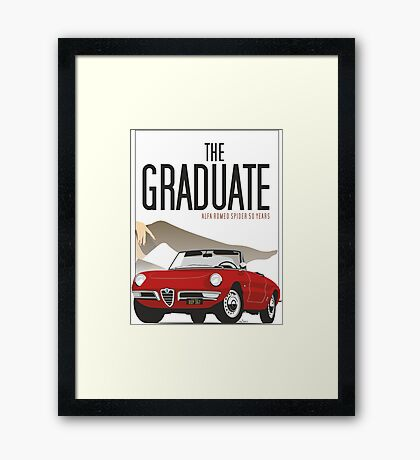 Alfa Romeo Duetto from the Graduate Framed Print