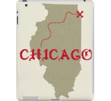 Chicago X marks the spot iPad Case/Skin