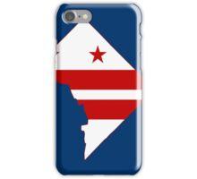 Washington DC Flag Map iPhone Case/Skin