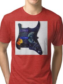 Guitar scratch planet  Tri-blend T-Shirt