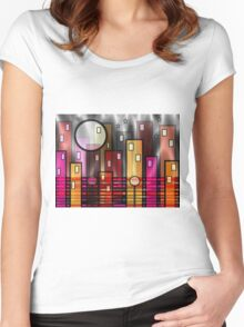 Psychedelic City Women's Fitted Scoop T-Shirt