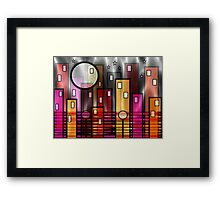 Psychedelic City Framed Print