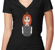 Chibi Ginny Weasley Women's Fitted V-Neck T-Shirt