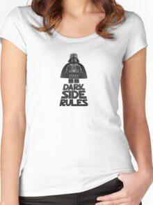 Dark side lego Women's Fitted Scoop T-Shirt