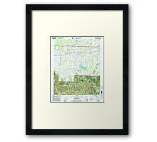 USGS TOPO Map Alabama AL Landersville 304361 2000 24000 Framed Print