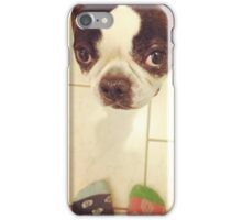 No judgement Bandit- Boston Terrier SideSandwich  iPhone Case/Skin