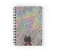 oily rainbow Spiral Notebook