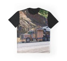 Truckers Big Rig Auto-Transporter Truck  Graphic T-Shirt