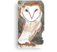 Barn Owl In the Night Canvas Print