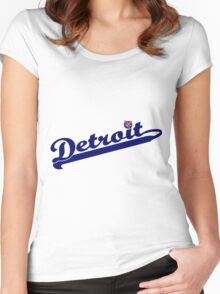 Tigers of Detroit Logo Women's Fitted Scoop T-Shirt