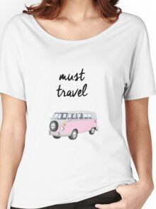 Must Travel Campervan Design Women's Relaxed Fit T-Shirt
