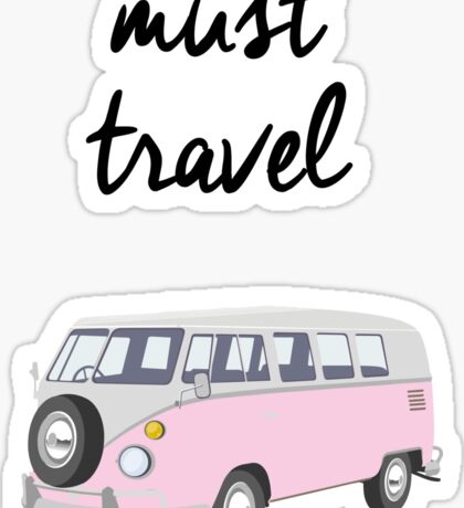 Must Travel Campervan Design Sticker