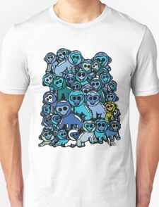 The Shiny Blue Monkey Pile Accepts the Odd Monkey Out T-Shirt