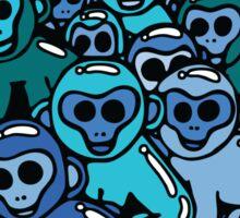 The Shiny Blue Monkey Pile Accepts the Odd Monkey Out Sticker